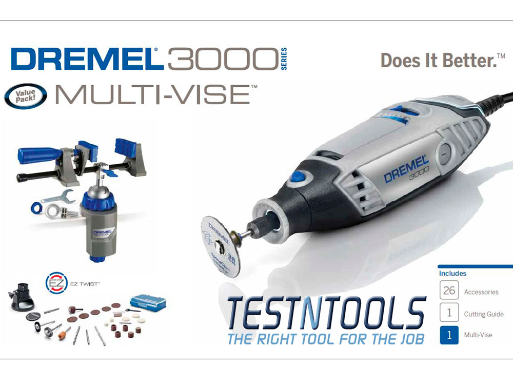 Dremel 3000 Rotary Tool With 26 Acc And Multi Vise 0615993506