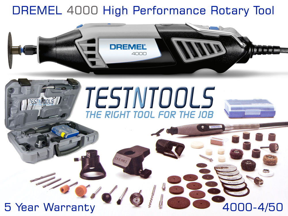Power Tools Rotary Tool Dremel 4000 With 4 Attachments 50 Acc 4000 4 50 F0134000nj