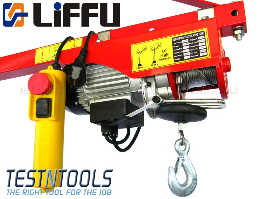Work Lifting And Handling Liffu Electric Hoist 230v Wire Rope 18m 600kg Pa600