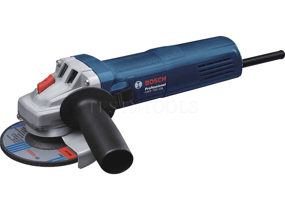 """Power Tools :: Angle grinder :: 125mm (5"""") :: Bosch Angle Grinder 125mm 750W GWS750-125 0601394041"""