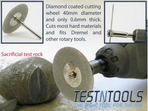 Desic Diamond Coated Cutting Wheels 40mm 4 PC Set