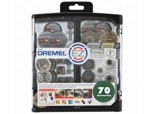 Dremel EZ Lock All Purpose Accessory Kit 70 Piece EZ725 2615E725AB