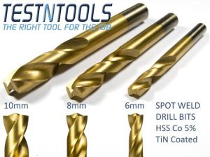 Desic Spot Weld Drill Bit HSS Titanium Coated 8mm