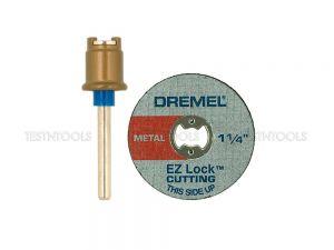 Dremel EZ Lock Starter Kit Mandrel With 5 Cut-Off Wheels EZ406 2615E406AD