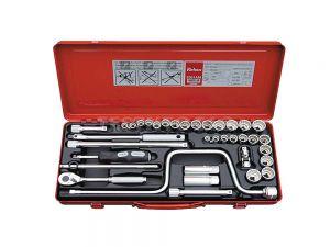 """Koken Socket Set 3/8"""" Drive 5/16"""" - 7/8"""" & 9mm - 22mm 12PT 36 Piece 3201AM"""
