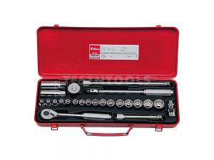 """Koken Socket Set With Spark Plug Sockets 3/8"""" Drive 6mm - 22mm 6PT/12PT 24 Piece 3275"""