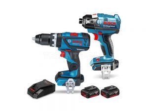 Bosch 18V 2pc 3.0Ah Brushless Hammer Drill/Impact Driver Combo Kit SBR2-CEC 0615990J4K