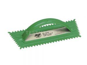 Marshalltown QLT Plastic Notched Trowel V-Shape Green 10mm MT6263