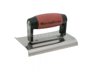 MARSHALLTOWN Stainless Steel Curve End Hand Edger DuraSoft Handle 150mm x 100mm x 6.35mm MT155SSD