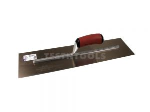 Marshalltown Golden Stainless Steel Finishing Trowel DuraSoft Handle 450mm x 125mm MTMXS815GD