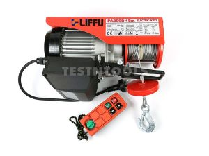 Liffu Electric Hoist 230V Wire Rope 18m 200Kg PA200 With Remote Control