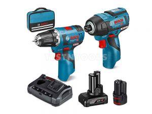 Bosch 12V 2pc 2.0Ah/4.0Ah Brushless Drill/Impact Driver Combo Kit SCRREC 0615990L1S