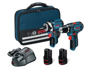Bosch 12V 2pc 2.0Ah Brushed Drill/Impact Driver Combo Kit SCRR 0615990L1G