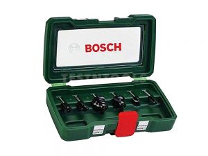 "Bosch Router Bit Set 6 Piece 1/4"" Shank 2607019462"