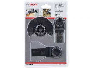 Bosch Starlock Multi-tool Accessory Set Basic For Wood 3 Piece 3ERSETOMT 2608662343