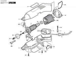 Dremel 398 Spare Part Number 3 - Armature 230V 2610907942