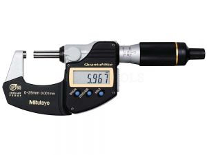 Mitutoyo Digimatic Micrometer QuantuMike 0-25mm 0.001mm IP65 With SPC Data Output 293-140-30