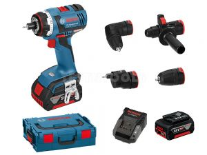 Bosch 18V Flexiclick 5 In 1 Brushless Drill Driver 6.0Ah Kit GSR18VEC-FC2 0615990H3M