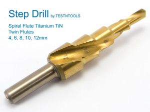 Desic Step Drill Spiral Flute 4-12mm