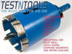 Desic Diamond Core Drill Holesaw With Pilot 60mm