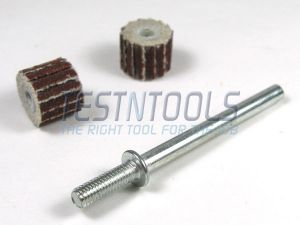 Desic Flapwheel 08mm 320 Grit 2 Pieces And Mandrel