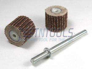 Desic Flapwheel 12mm 320 Grit 2 Pieces And Mandrel