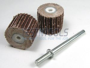 Desic Flapwheel 16mm 320 Grit 2 Pieces And Mandrel