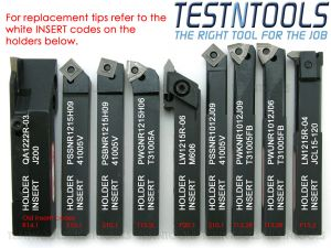 Desic Indexable Turning Tool Set 12mm 9 Piece