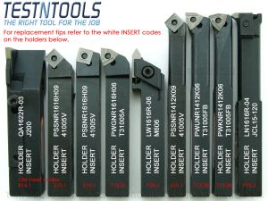 Desic Indexable Turning Tool Set 16mm 9 Piece