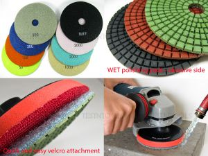 Desic Diamond WET Polishing Pad 100mm 300 Grit