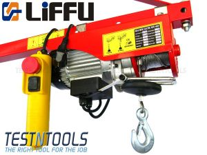 Liffu Electric Hoist 230V Wire Rope 18m 300Kg PA300