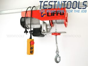 Liffu Electric Hoist 230V Wire Rope 18m 1200Kg PA1200