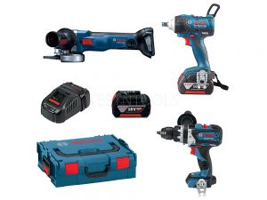 Bosch 18V 3pc 6.0Ah Brushless Combo Kit DB3-WG EC 0615990K06