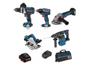 Bosch 18V 6pc 5.0Ah Brushless Combo Kit DB6-XGH EC 0615990J9J