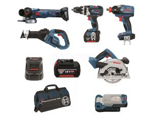 Bosch 18V 6pc 5.0Ah Brushless Combo Kit DB6-XGS EC 0615990J6U