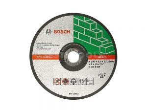 Bosch Masonry Cut Off Disc 180 x 3.2 x 22.2mm 10 Pack 2608603053