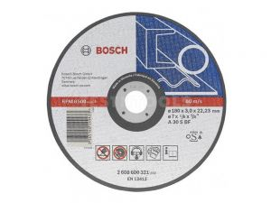 Bosch Metal Cut Off Disc 115 x 2.5 x 22.2mm 10 Pack 2608603036
