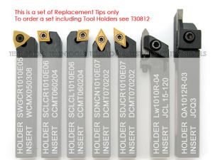 Desic Turning Tool Tips Set for 10mm 7pc T29914