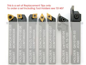 Desic Turning Tool Tips Set for 12mm 7pc T29913