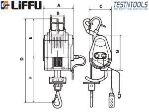 Certified Liffu Electric Scaffold Hoist 230V Wire Rope 250Kg