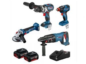 Bosch 18V 4pc 6.0Ah Brushless Combo Kit 0615990L8N