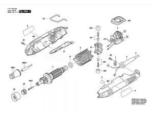 Bosch 4200 Spare Part Number 16 - Brush Holder 2610017151