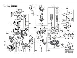 Bosch POF1200AE Spare Part Number 654 - Stud-type Track Roller 1609203V38