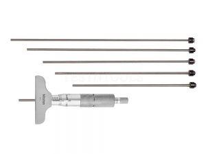 Mitutoyo Depth Micrometer 0-6 4 6 Rods 129-132