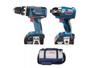 Bosch 18V 2pc 3.0Ah Hammer Drill/Impact Driver SBR 0615990J6J