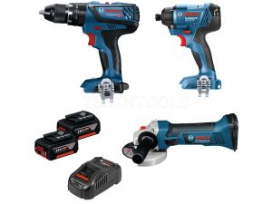 Bosch 18V 3pc 3.0Ah Brushless Hammer Drill/Impact Driver Kit SBR 0615990J6M