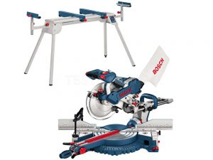 "Bosch Mitre Saw 255mm (10"") GCM10SD With Stand T1B 0615990HT1"