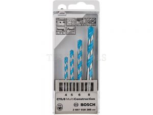 Bosch Multiconstruction Drill Bit Set Of 4, 5, 6, 8mm 2607018285