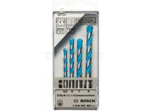 Bosch Multiconstruction Drill Bit Set Of 5.5, 6, 7, 8mm 2608595362