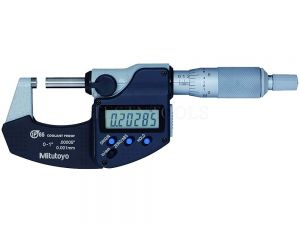 "Mitutoyo Digimatic Micrometer 25mm 0-1"" 0.001mm 0.00005"" IP65 With SPC Data Output 293-330-30"